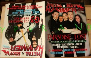Metal Hammer 151, 8/97 Aug 1997. Paradise Lost on cover, Joe Satriani Steve Vai on cover, Rockwave Festival, Kreator, Winger