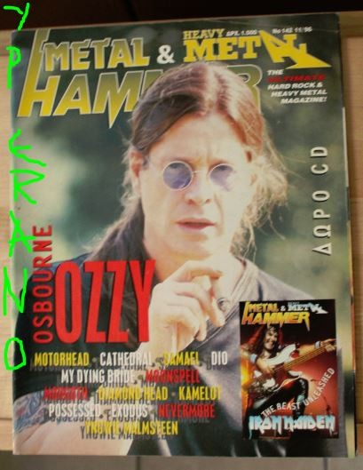 Metal Hammer 142, 11/96 Oct 1996. Ozzy Osbourne on cover, Motorhead, Cathedral, Samael, Dio, Kreator, My Dying Bride, Moonspell