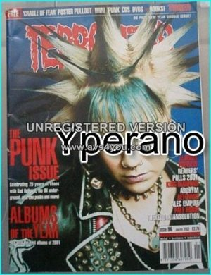 TERRORIZER 96. JAN 2002 THE PUNK ISSUE - ALBUMS OF 2001 Mint condition