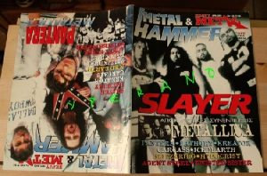 Metal Hammer 138, 7-96 July 1996. Slayer on cover, Metallica, Pantera, Bathory, Kreator, Carcass, Iced Earth, Blitzkrieg