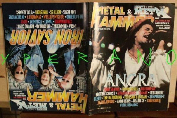 Metal Hammer 150, 7/97 June 1997. Angra on cover, Iron Savior on cover, Symphony X, Hammerfall, Motorhead, Stratovarius, Tiamat