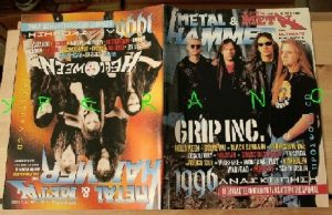 Metal Hammer 145, 2/97 Feb 1997. Grip Inc. on cover Helloween on cover, Steve Vai, Flames, Victory, Black Sabbath, Helstar