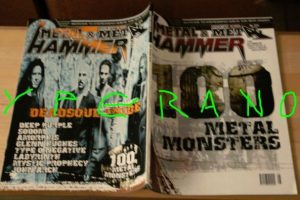 Metal Hammer 224, 8/2003 Aug. 100 best bands ever (SUPER special), Deadsoul Tribe on cover, Glenn Hughes, Deep Purple, Sodom