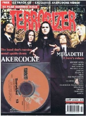 TERRORIZER 91. JUL 2001. AKERCOCKE, MEGADETH, ICED EARTH Mint condition includes CD with 13 songs
