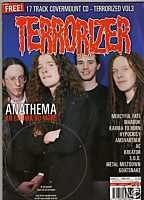 TERRORIZER 67. JUN 1999 ANATHEMA, MERCYFUL FATE, KREATOR, S.O.D mint condition, includes 17 song CD