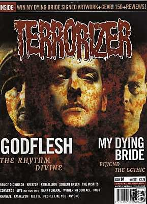 TERRORIZER 94. NOV 2001. GODFLESH, My Dying Bride, Coverge, DARK FUNERAL Mint condition