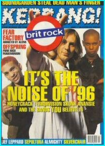 Kerrang 581 January 1996, Wildhearts, Terrorvision, Skunk Anansie, Napalm Death, Fear Factory, Def Leppard,