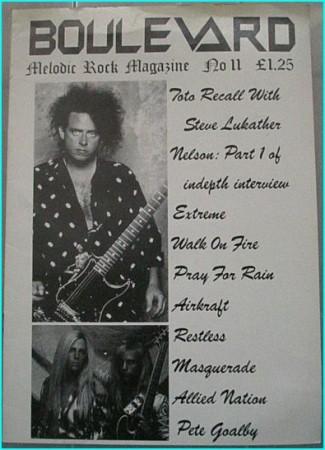 Boulevard Melodic Rock Magazine 11, Toto - Steve Lukather, Nelson, Extreme, Walk on Fire, Airkraft, Restless, Masquerade