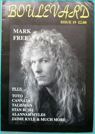 Boulevard Melodic Rock Magazine 19 SIGNED autographed by MARK FREE Toto, Cannata, Talisman, Stan Bush, Alannah Myles, Jaime Kyle