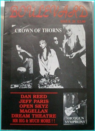 Boulevard Melodic Rock Magazine 20, Crown of Thorns, Dan Reed, Jeff Paris, Open Skyz, Magellan, Dream Theatre, Mr. Big