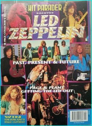 Hit Parader, salutes Led Zeppelin, past present future, Page & Plant getting the Led Out