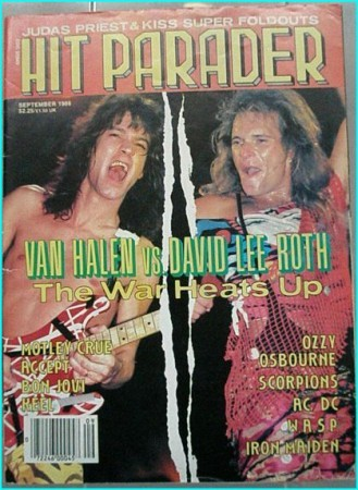 Hit Parader September 1986 Van Halen vs. David Lee Roth, Motley Crue, Accept, Bon Jovi, Keel, Ozzy Osbourne, AC/DC, W.A.S.P