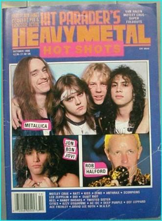 Hit Parader October 1986 Metallica, Rob Halford Judas Priest, Motley Crue, Ratt, Bon Jovi, Keel, Ozzy Osbourne, ACDC, W.A.S.P
