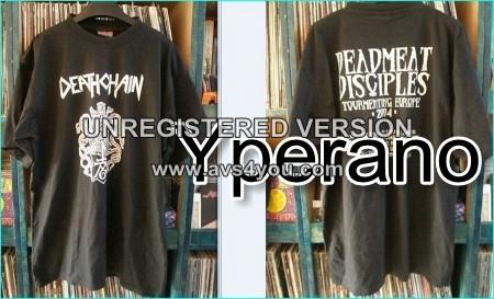 Deathchain: Deadmeat Disciples Tour T-shirt Tormenting Europe 2004