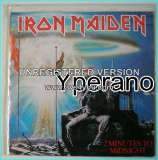 """IRON MAIDEN: Two Minutes to Midnight 7"""" + Rainbow's Gold (Beckett cover)"""