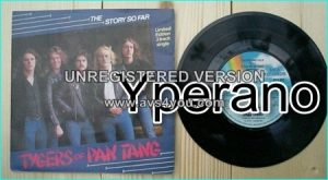 "TYGERS OF PAN TANG: The story so far 7"" + Silver or gold + All or nothing (unreleased cover song)."
