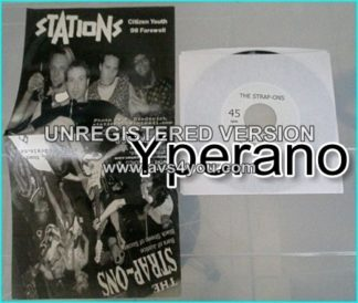 Stations + Strap-Ons: split 4 song 7 inch vinyl E.P Proper Punk. Check video.