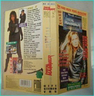Metal Hammer vol 2 VHS. Motorhead, Thin Lizzy, Doro, ALICE COOPER, Mindfunk, SKID ROW, Anthrax, Overkill, The Cult, OZZY-