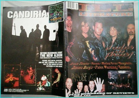 Ill Literature 14 Judas Priest, Paradise Lost, Emperor, Dream Theater, Venom, Motley Crue, Megadeth, Dimmu Borgir, Fates Warning