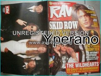 Raw 171, March 1995 Skid Row on cover, Faith No More, Offspring, Megadeth, White Zombie, Pearl Jam, Guns N' Roses