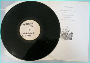 Creaming Jesus: Headrush E.P press testing. SUPER RARE Alternative Rock, Goth Rock, Punk. Covers