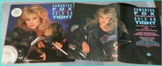 "Samantha Fox: Hold on tight 12"" vinyl, 4 songs / 16 minutes of music, includes poster. Check video"