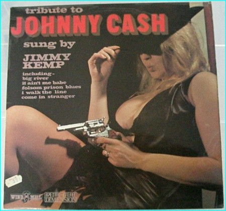 Tribute to Johnny Cash LP Jimmy Kemp Windmill Records (UK) RARE!! Cool cover