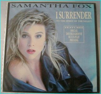 Samantha Fox: I surrender (to the spirit of the night) 12 inch vinyl. 'Double-Groove' Multi-Play Pressing. Greek copy / pressing