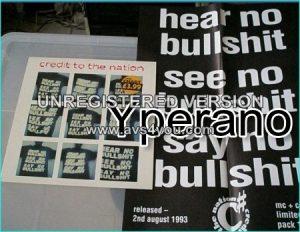 """Credit to The Nation: hear no bullshit, see no bullshit, say no bullshit 12"""" with poster.!"""