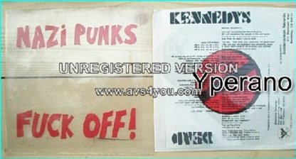 "DEAD KENNEDYS: Nazi Punks Fuck Off! + Moral Majority 7"" Thin mylar sheets (lyrics + artwork). Check video"
