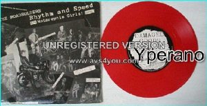 "THE ROADHOLDERS: Rhythm and speed + Motorcycle girls! 7"". 1000 on Red Vinyl. Rocky Rhythm's post-Revillos band."