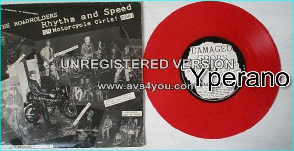 "THE ROADHOLDERS: Rhythm and speed + Motorcycle girls! 7"". 1000 on Red Vinyl. Rocky Rhythm's post-Revillos band."