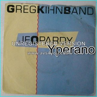 """Greg KIHN BAND: Jeopardy 7"""" Rare UK with blue / yellow picture cover. Check video."""