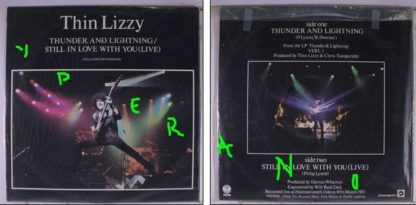 """THIN LIZZY: Thunder And Lightning 12"""" UK + Still In Love With You (Live '83). Highly recommended. Check video"""