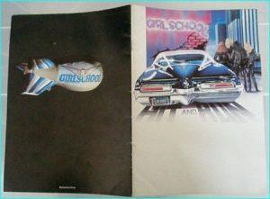Girlschool: Hit and Run tour programme 1981 N.W.O.B.H.M.
