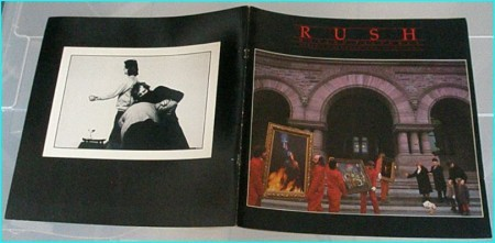 Rush moving pictures tour programme 1981