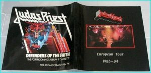 Judas Priest European Tour 1983 - 1984 Tour programme SIGNED autographed