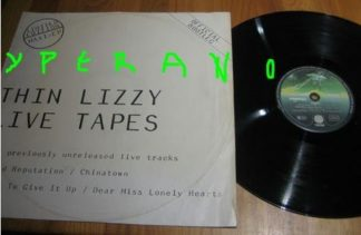 THIN LIZZY: Live tapes official bootleg 12""