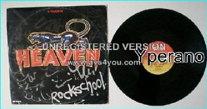 "HEAVEN: Rock School rare 12"" that also contains Madness and 2 live songs. Check video"
