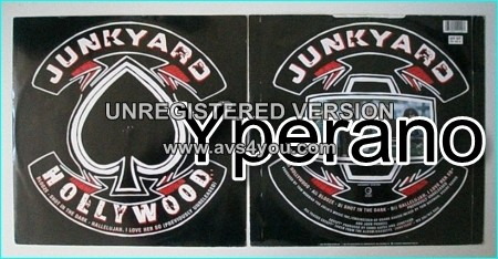 "JUNKYARD: Hollywood 12"" E.P. Unreleased songs. Little Caesar, L.A. Guns, AC/DC, Check video. HIGHLY RECOMMENDED."