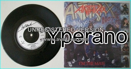 """ANTHRAX: I'm The Man [among the first rap metal songs] + Caught in a mosh (live) 7"""" Check videos"""