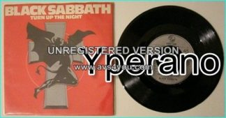 "BLACK SABBATH: Turn up the night + Lonely is the world 7"" (SAB 6 near mint condition + demon / cross picture sleeve)"