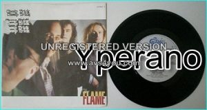 "CHEAP TRICK: The Flame [one of the best ballads ever] +Through the night (unreleased) 7"" English 1 hit power ballad"