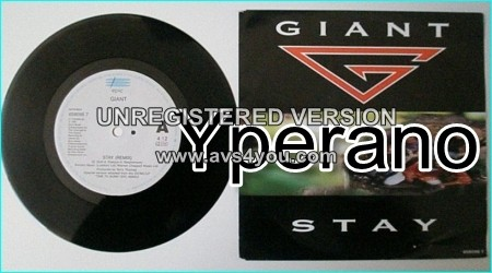 """GIANT: Stay (Remix) 7"""" + Get used to it. First class Melodic Hard Rock. legendary singer. Check video!"""