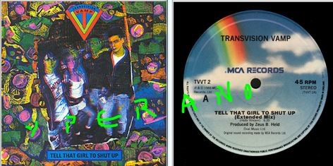 "Transvision Vamp: Tell That Girl To Shut Up 12"". Mint. Great Holly and the Italians cover! Highly recommended! Check video"