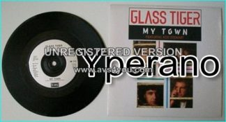 "GLASS TIGER: My Town 7"" (featuring Rod Stewart). PROMO!!!! Check video."
