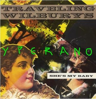 """TRAVELING WILBURYS: Shes My Baby 12"""" Rare 1990 UK 3-track with Gary Moore on lead guitar"""