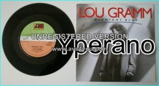 "Lou GRAMM: Midnight Blue 7"" PROMO (Rare solo promo. Foreigner singer. PROMO) Check video."