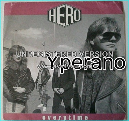 """HERO: Everytime 7"""" + Runaway. classic one off A.O.R. Total gem of flawless & polished AOR perfection. ."""