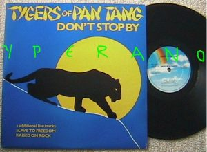 "TYGERS OF PAN TANG: Don't Stop by 12"" w. live tracks. 1981 British Metal / NWOBHM"